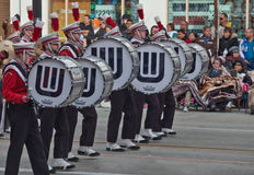 Band in de Roze Parade van de Kom Royalty-vrije Stock Foto