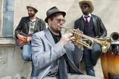 Band der Blaumusiker lizenzfreie stockfotos