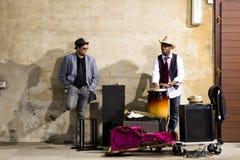 Band der Blaumusiker stockfotografie