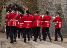 Band des königlichen Walisers - verlassend stockfotos