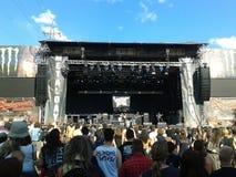 Band, die bei MetalDays spielt Lizenzfreies Stockbild
