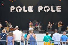 Band die bij het festival van Gent presteren Stock Foto