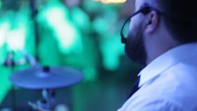 Band, die an der Hochzeit spielt stock footage