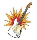 Band electric guitar illustartion Stock Images