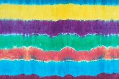 Band färgad modell på bakgrund för abstrakt begrepp för teknik för bomullstyg dopp färgad Royaltyfri Foto