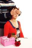 Band för ögonen på par Fotografering för Bildbyråer
