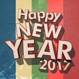 Band 2017 för grunge för lyckligt nytt år färgrika Royaltyfri Foto