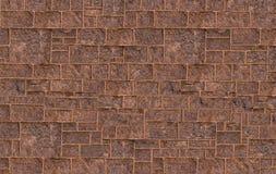 Band för guling för brunt för vägg för sten för abstrakt bakgrundssten stads- rektangulära Royaltyfria Foton