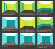 band för plan för färggarneringutgångspunkt Arkivfoto