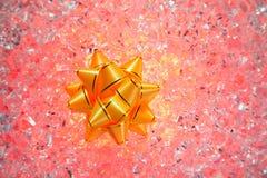 band för red för is för julgåva guld- Arkivfoton