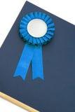 band för utmärkelseemblemcertifikat Fotografering för Bildbyråer