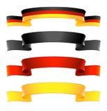 Band-Fahnen stellten in nationale Farben von Deutschland ein Lizenzfreies Stockbild