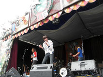 Band Free Energy Jams on Stage royalty free stock photography