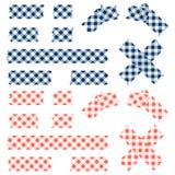 Band geruit patroon - blauw en rood vector illustratie
