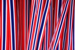 Band gjord randig flagga av Thailand royaltyfri fotografi