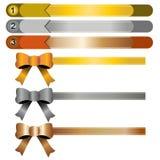 Band, guld, silver och koppar Arkivfoton