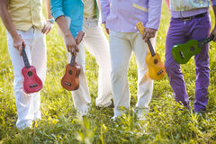 Band hawaiian ukulele. In nature Stock Photography