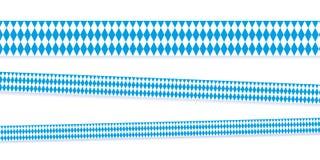 Band i bavarianfärger blått och vit stock illustrationer
