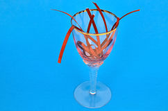 Band i exponeringsglaset Arkivfoto
