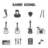 Band icons. Mono vector symbols vector illustration