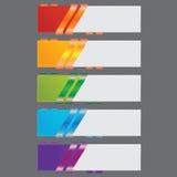 Band infographics Zahlfahnen Schablone oder Websiteplan Vektor Abbildung Lizenzfreie Stockfotografie
