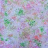 Band-kleurstof patroon op stof Hand het schilderen stoffen royalty-vrije stock foto's