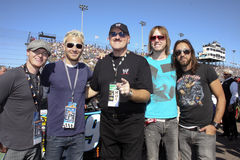 The band, Lifehouse, with WWE Sgt. Slaughter Royalty Free Stock Images
