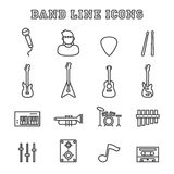 Band line icons Stock Images