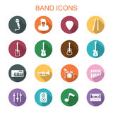 Band long shadow icons Stock Photo