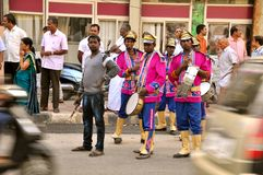 Band Master on the streets of India stock images