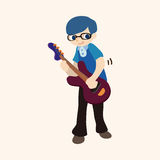 Band member guitar player theme elements. Vector illustration file Stock Image