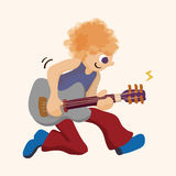 Band member guitar player theme elements. Vector illustration file Stock Photos