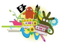 Band met funky patroon stock illustratie