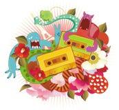 Band met funky patroon vector illustratie