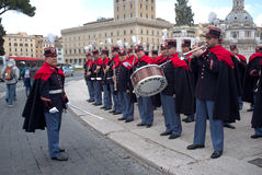 Band in military parade in Rome Royalty Free Stock Photos