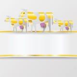 Band mit goldenen Kühen Stockfotos