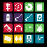 Band Music Icon Set Stock Image