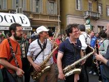 BAND MUSIC,MILAN,ITALY Stock Image