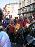BAND MUSIC,MILAN,ITALY Royalty Free Stock Photos