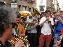 BAND MUSIC,MILAN,ITALY Stock Photo