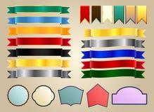 Band och etiketter Arkivbild