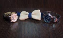 Band och klocka för man` s Royaltyfri Fotografi
