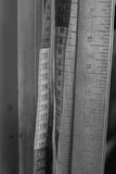 Band och linjal arkivbilder