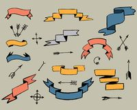 Band och pilar vektor illustrationer