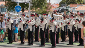 Band during a parade Royalty Free Stock Images