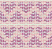 Band Pattern With Little Hearts Stock Photography