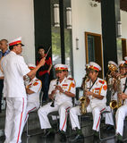 Band Performance in reunification palace,ho chi minh,vietnam Royalty Free Stock Photography