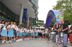 Band performance during Youth Olympic logo launch Stock Image