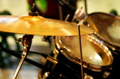 Band of performing musical drums Stock Photo