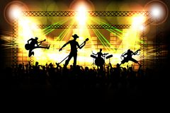 Band performing in Public Stock Photos